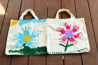 Handprint Flower Bags