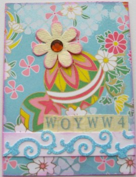 WOYWW 4 ATC - A Burst Of Yellow
