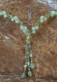 Novica Lime Ice Necklace - Up Close