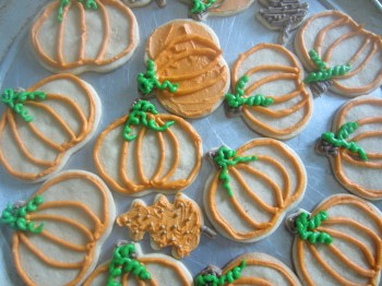 Fall Cut Out Sugar Cookies