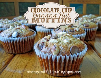 Chocolate Chip Banana Nut Muffins