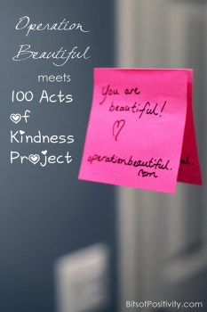 Operation Beautiful Meets 100 Acts Of Kindness