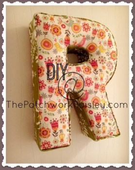Fabric Letter