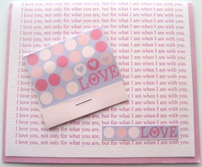 Love Card w Matchbook Quote