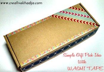Gift Box Ideas Using Washi Tape