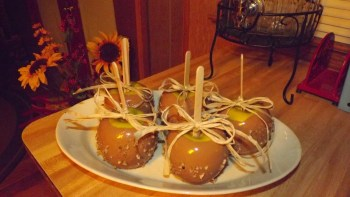 Faux Caramel Apples