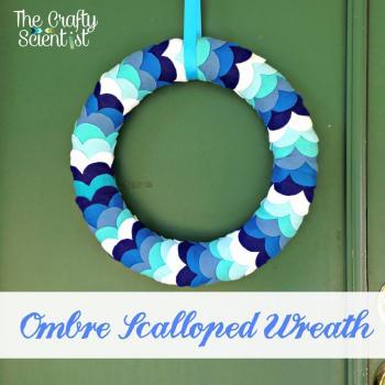 Scalloped Felt Wreath