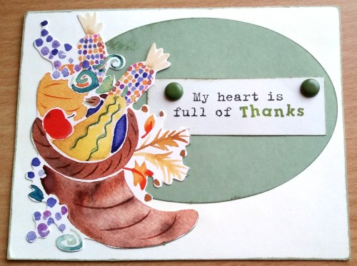 My Heart Is Full Of Thanks Card