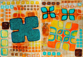 Stencil Girl Journal Page
