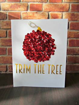 Trim the Tree Card