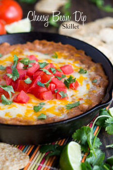 Cheesy Bean Dip Skillet