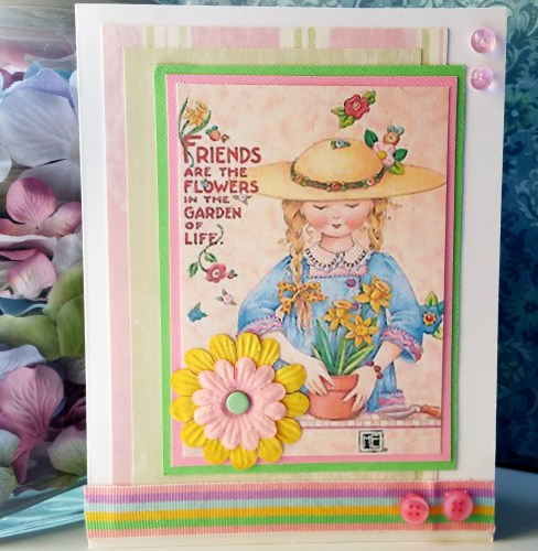 Friends Are Flowers Card