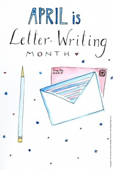 April Is Letter Writing Month