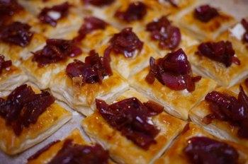 Carmelised Onion and Feta Tartlets