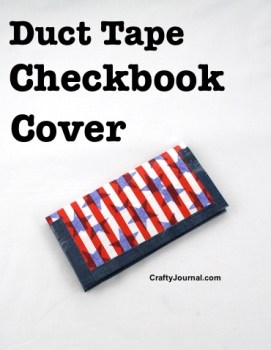 Duct Tape Checkbook Cover