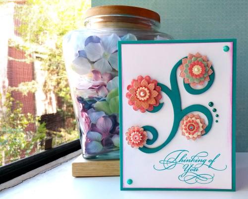 Swirls & Pearls - Thinking Of You Card - Window Photo - Create With Joy