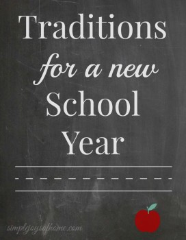 Traditions-For-A-New-School-Year