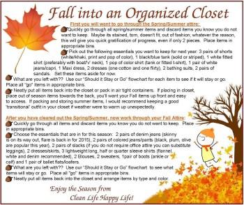Fall Into An Organized Closet