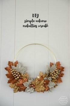 Autumn Metallic Wreath