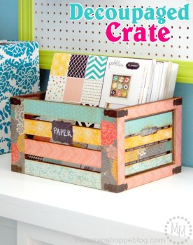 Decoupaged Crate