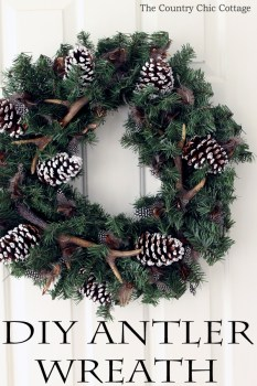 DIY Antler Wreath