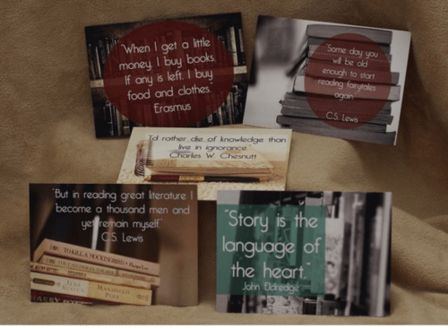 Love Of Literature Postcards
