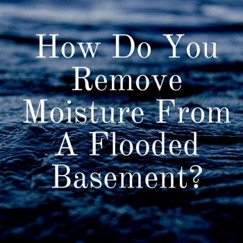 How Do You Remove Moisture From A Flooded Basement