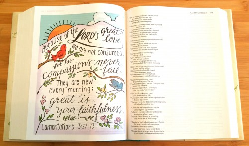 NIV Beautiful Word Bible - Sample Page 1