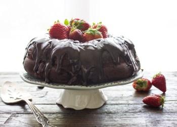 Glazed Dark Bundt Cake