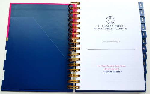 Anchored Press Planner Cover Page - L