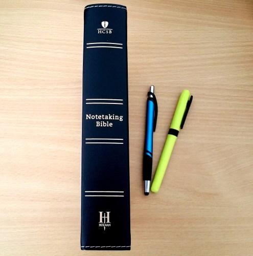 HCSB Notetaking Bible - Spine