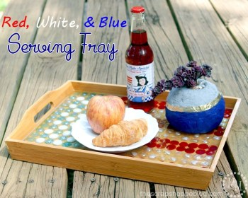 Red White And Blue Serving Tray