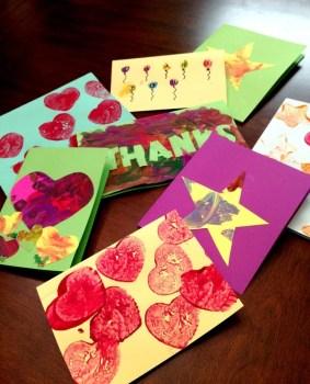 DIY Kid Thank You Cards