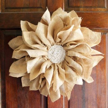 Burlap Home Wreath