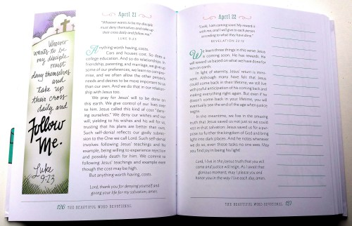 Beautiful Word Devotional - Sample Page