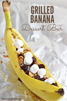 Grilled Banana Dessert Bar
