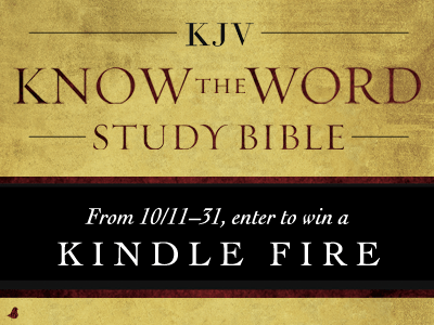 KJV Know The Word Study Bible Giveaway