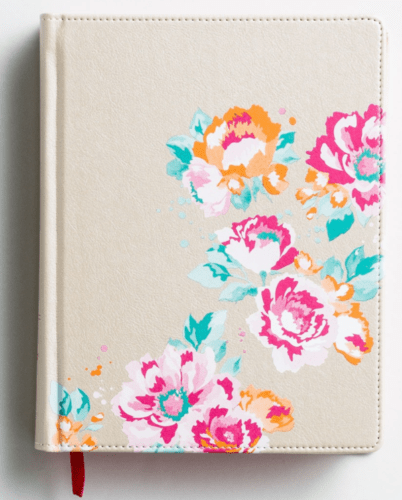 NIV Journal The Word Bible For Teens - Gold Floral