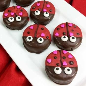 Valentine Ladybug Cookies