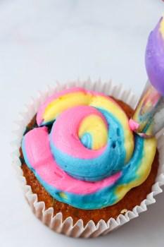 Tye Die Rainbow Cupcakes