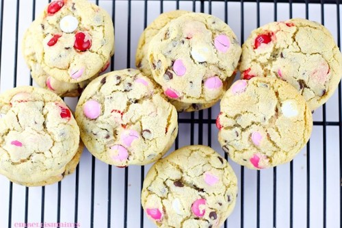 M & M Pudding Cookies