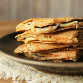 Apple and Eggplant Quesadillas