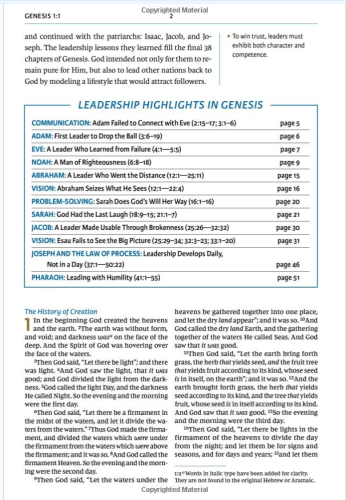 Maxwell Leadership Bible - Sample 1