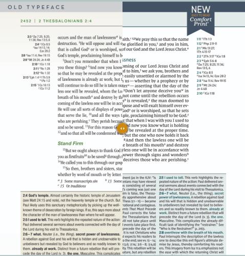 NIV Biblical Theology Study Bible - Font Comparison