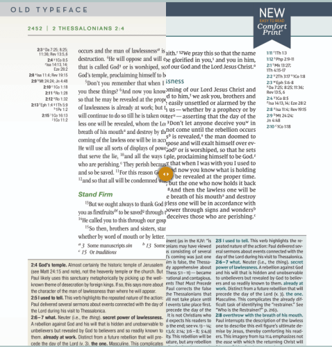 NIV Biblical Theology Study Bible - Font Comparison