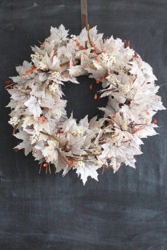 White Leaf Wreath
