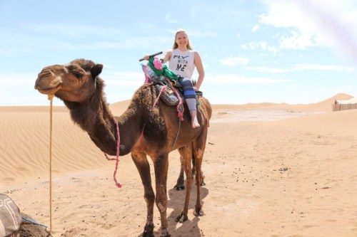 Camel Riding In The Sahara