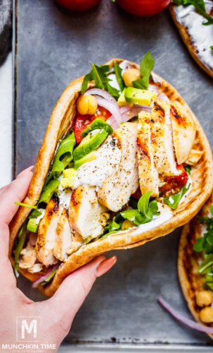 Easy Grilled Chicken Pita