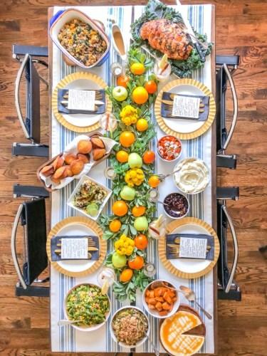 Thanksgiving Table Setting