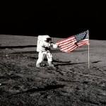 Neil Armstrong Flag On Moon